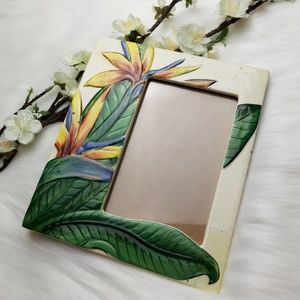 Tropical Floral Bird Of Paradise Picture Frame